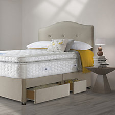 Sealy Posturepedic Pocket 1400 Springs Geltex Box Top Mattress & Divan Bed