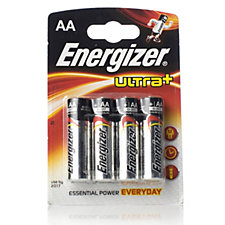 Energizer Ultra+ Pack of 4 Alkaline AA Batteries