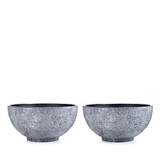 Garden Reflections Set of 2 Stone Effect Planters