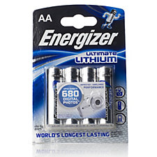 Energizer Ultimate Lithium Pack of 4 AA Batteries