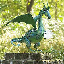 Plow & Hearth Solar LED Metal Dragon