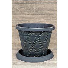 Thompson & Morgan Decorative Patio Pot & Saucer