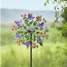 Plow & Hearth 6ft Decorative Butterfly Wind Spinner