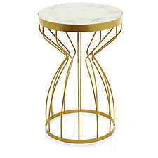 JM by Julien Macdonald Miami Marble Effect Side Table