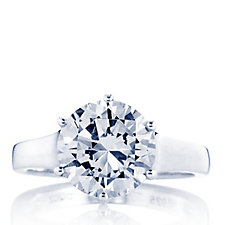 Diamonique 4ct tw Brilliant Cut Solitaire Ring Sterling Silver