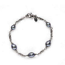 Honora 5-6mm Cultured Pearl Station 19cm Bracelet Bronze