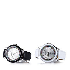 Gossip Set of 2 Multi Coloured Crystal Ladies Watches