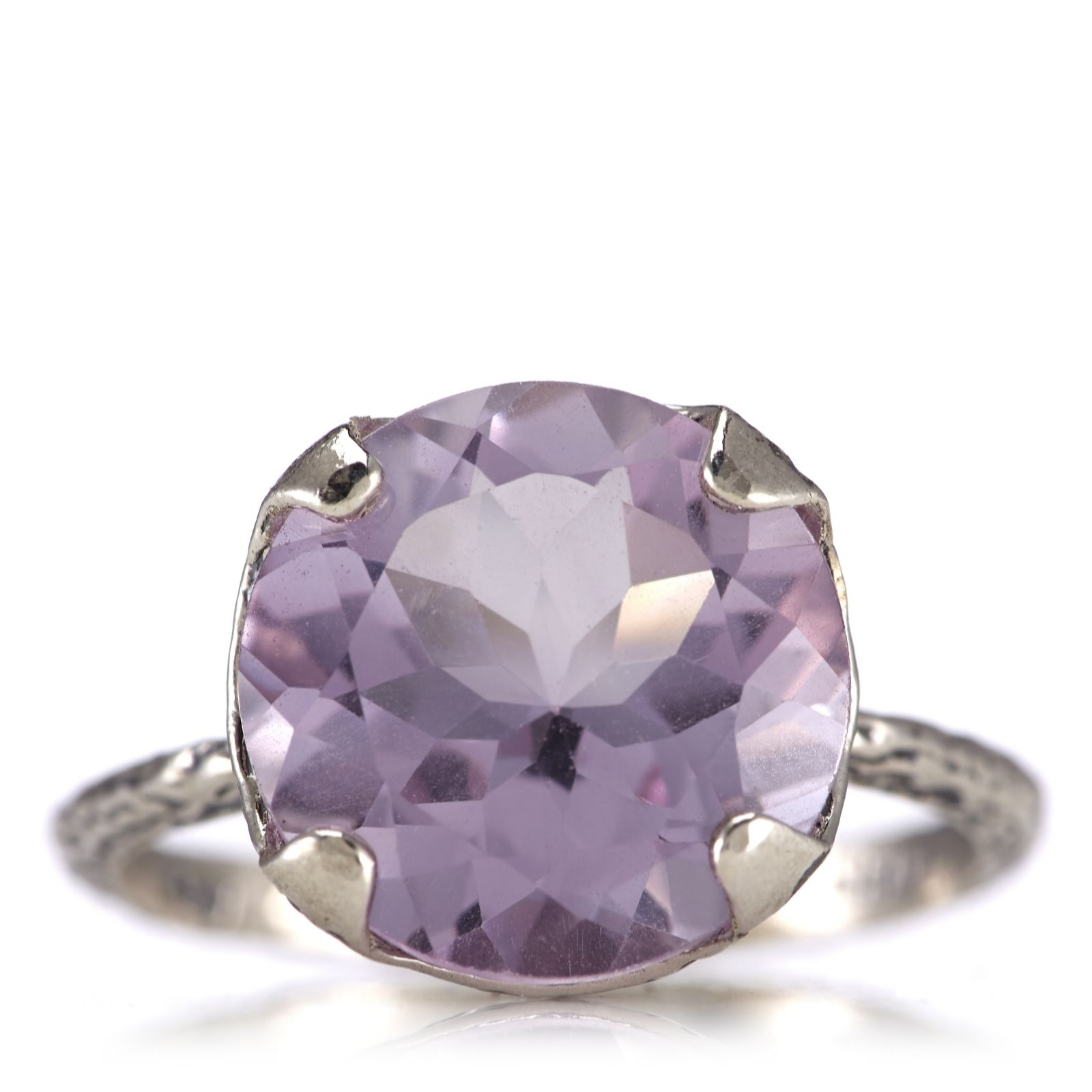 Or Paz 5.7ct Amethyst Solitaire Ring Sterling Silver