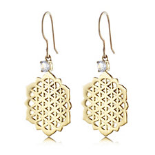 664502 - K by Kelly Hoppen Drop Earrings 18ct Gold Vermeil Sterling Silver