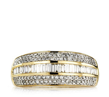 0.7ct Diamond Band Ring 9ct Gold - 664602
