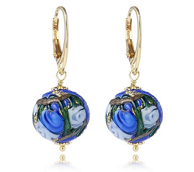 Murano Glass Dolce Leverback Earrings Sterling Silver - 664902