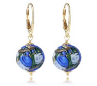 Murano Glass Dolce Leverback Earrings Sterling Silver