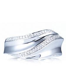 0.1ct Diamond Band Ring 9ct White Gold