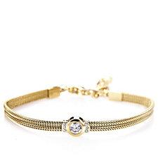 Skagen Ladies Goldtone Round Crystal 16cm Bracelet