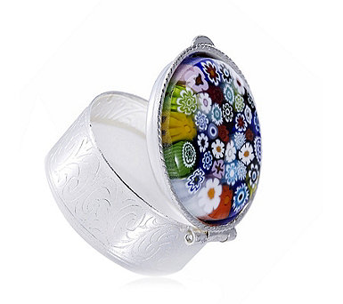 Murano Glass Millifiori Pill Box - 664903