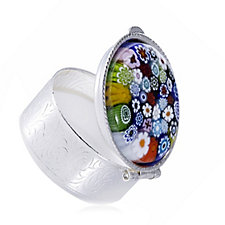 Murano Glass Millifiori Pill Box