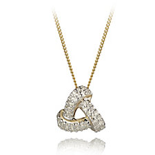 0.1ct Diamond Knot Pendant & Chain 9ct Gold