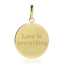 K by Kelly Hoppen Miami Collection Love Pendant 18ct Gold Plated Bronze