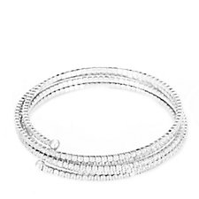 Diamonique 13.50ct tw 5 Row Extendable Wrap Bangle Sterling Silver