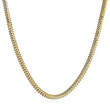 Veronse Mesh Chain 45cm Necklace Sterling Silver