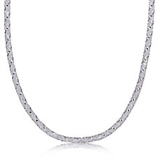Diamonique 25ct tw Twisted Mesh 45cm Necklace Sterling Silver