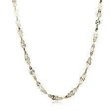 Veronese Diamond Cut Link Necklace Sterling Silver