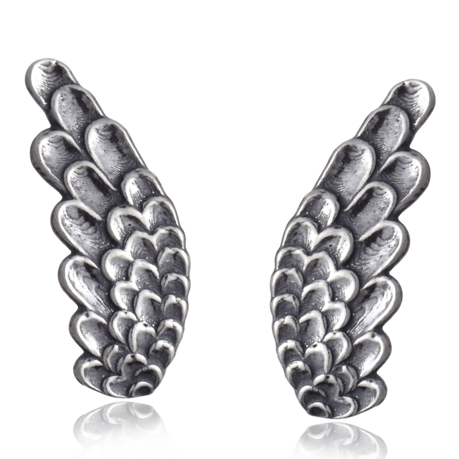 Or-Paz Wing Earclimber Earrings Sterling Silver