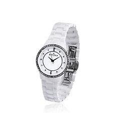 Skagen Ladies Studio Crystal Bezel Ceramic Watch
