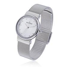Skagen Ladies Crystal Steel Mesh Strap Watch