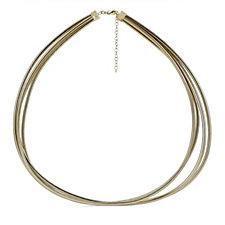 Bella Vita 18ct Gold Plated Multistrand 45cm Necklace Bronze