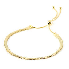 Veronese Flat Snake Friendship Bracelet Sterling Silver