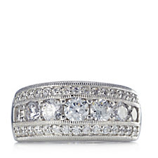 Diamonique 1.6ct tw Simulated Diamond Band Ring Sterling Silver