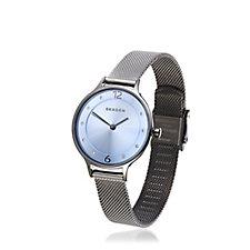 Skagen Ladies, Anita Grey Tone Mesh Strap Watch