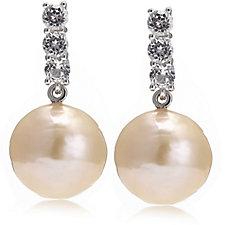 Honora 12-14mm Cultured Ming Pearl Gemstone Earrings Sterling Silver