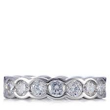 Diamonique 4ct tw Bezel Set Full Eternity Ring Sterling Silver