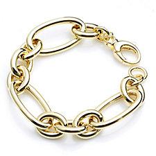 K by Kelly Hoppen Oversized Link 21cm Bracelet 18ct Gold Plated Bronze
