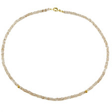 Sogni d'Oro 60ct Madagascan Nude Zircon Necklace 9ct Gold