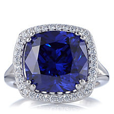 633711 - Diamonique by Andrea McLean 8.3ct tw Simulated Tanzanite Ring Sterling Silver