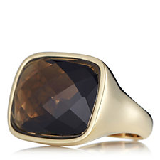 K by Kelly Hoppen Rectangular Ring 18ct Gold Plated Bronze