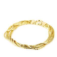 Veronese Multi Strand Ticalle 20cm Bracelet Sterling Silver