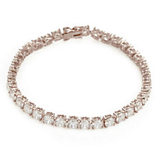 Michelle Mone for Diamonique 17ct tw Tennis Bracelet Sterling Silver