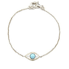 Lisa Snowdon Turquoise & Diamond Eye 19cm Bracelet Sterling Silver