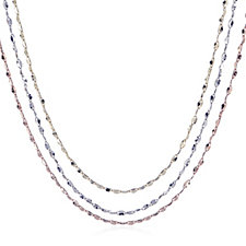 9ct Gold Mirror Valentine Set of 3 45cm Chains