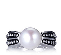 Honora 10-10.5mm Button Pearl Beaded Ring Sterling Silver - 618216