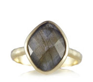 K by Kelly Hoppen Faceted Gemstone Ring 18ct Vermeil Sterling Silver