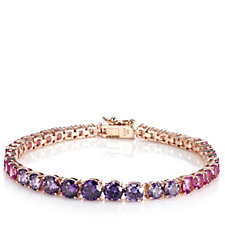 Diamonique 9.3ct tw Graduated Colour Tennis Bracelet Sterling Silver