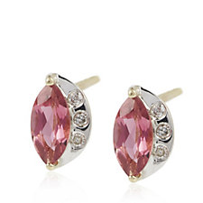 Sogni d'Oro 0.6ct Pink Tourmaline Stud Earrings 9ct Gold