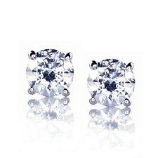 Diamonique 0.5ct tw Brilliant Cut Stud Earrings Platinum