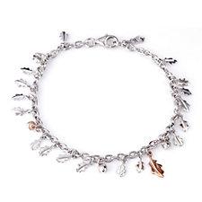 Clogau 9ct Rose Gold & Sterling Silver Royal Oak 19cm Bracelet
