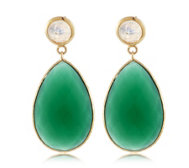 K by Kelly Hoppen Gemstone Earrings 18ct Vermeil Sterling Silver
